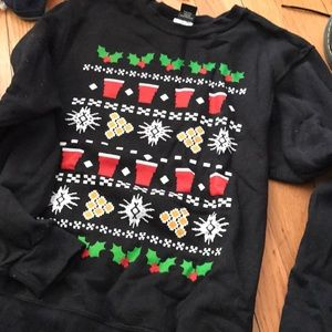 Other - Holiday pong men's sweatshirt size small